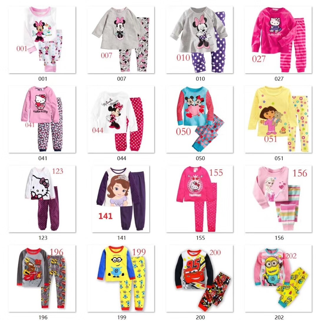 fd32bc9d87 Children Pajamas on Sale 100% Cotton Sleep Wear Home Wear Girls and Boys  Clothes