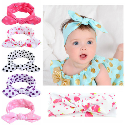 762ae068b1b49 Custom Kids Children Hair Accessories Cute Bow Bunny Ears Headband for Baby  Girl Princess Hair Bow