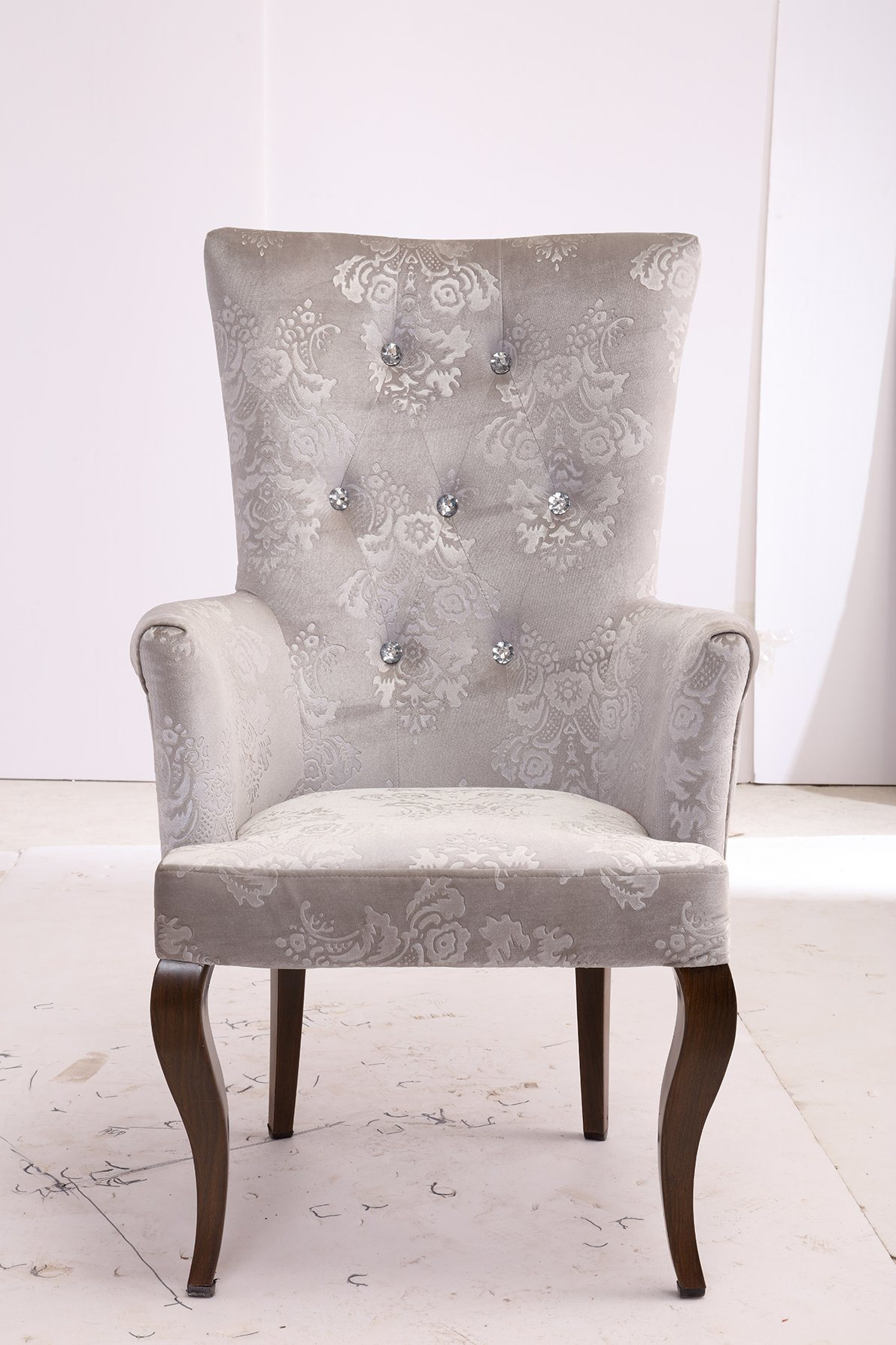 Sensational Hot Item High Quality European Style Ultra Size Steel Furniture White Royal Antique Metal Single Sofa Chair Pabps2019 Chair Design Images Pabps2019Com