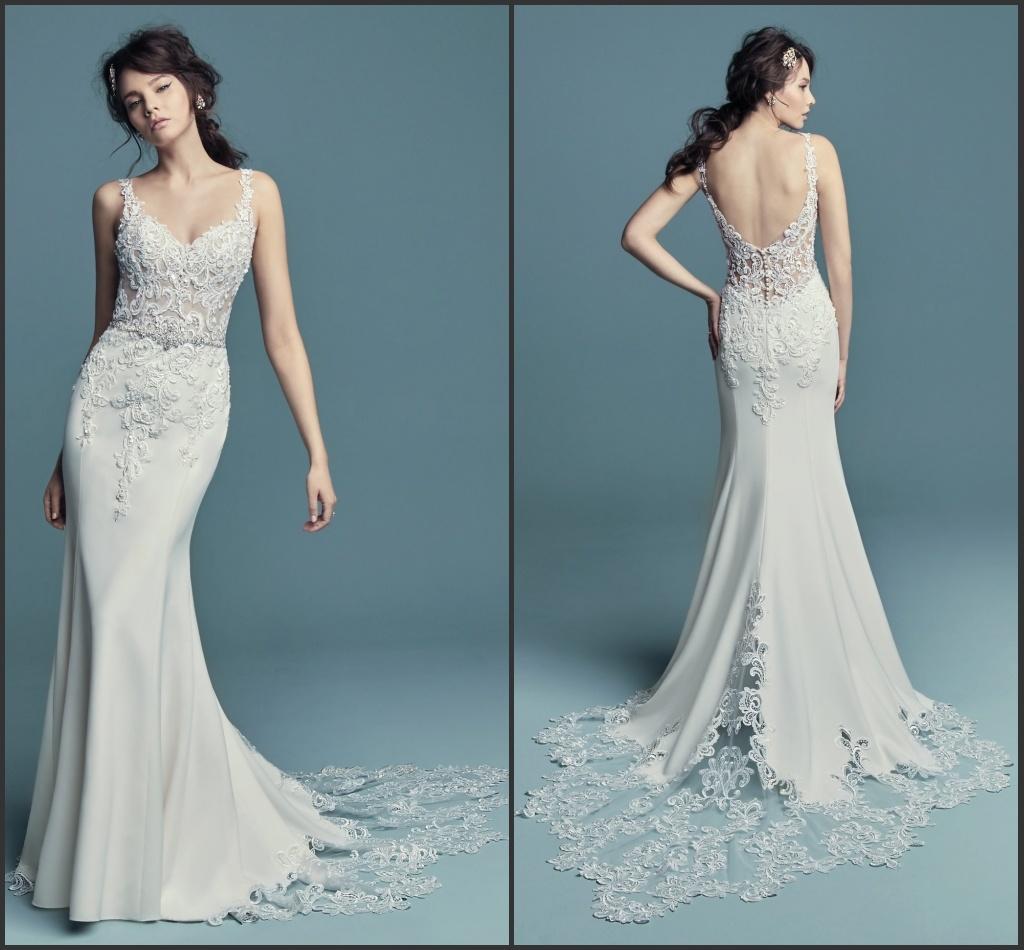 Mermaid Wedding Gowns 2019: China Mermaid Bridal Gowns Spaghetti Straps Lace Wedding