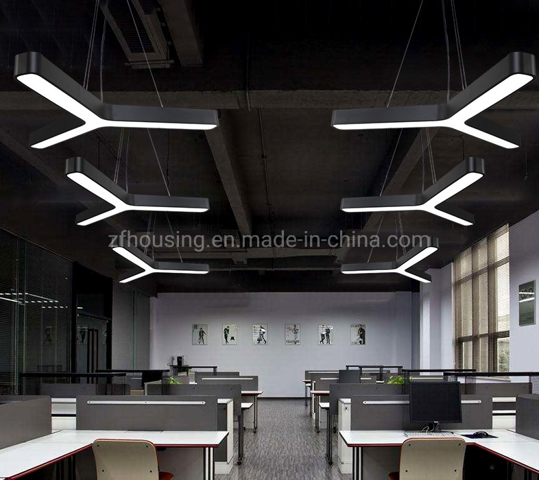 China Indoor Office Led Pendant Lighting Linear Light For Decoration Zf Cl 070