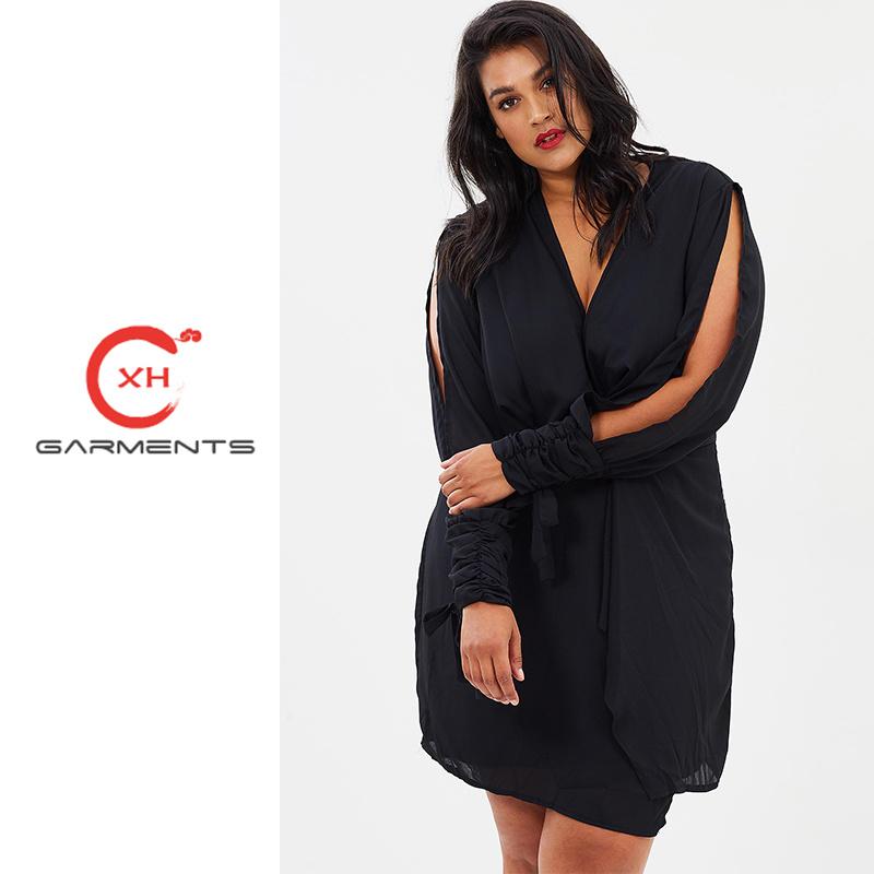 China Xh Garment Black Fat Women in Evening Dress - China Black Fat ...
