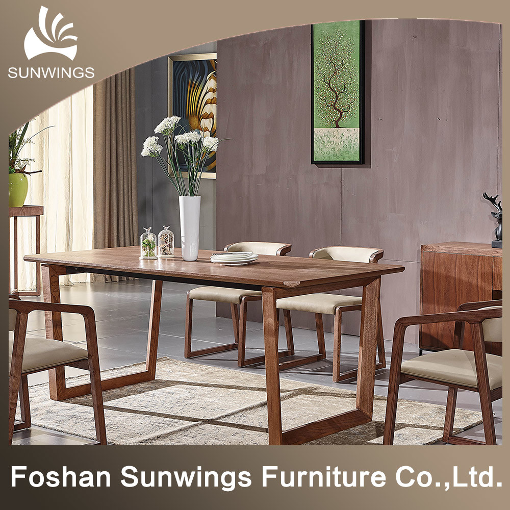 [Hot Item] The Nordic Contracted Solid Wood Table for Dining Room