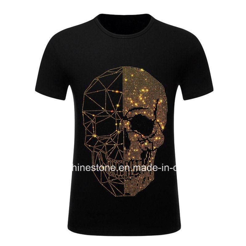 Skull Fashion Hot Fix Motif Transfer Motif Rhinestone Design Heat Transfers  for Tshirts (HF-skull) 90d7ec065bb6