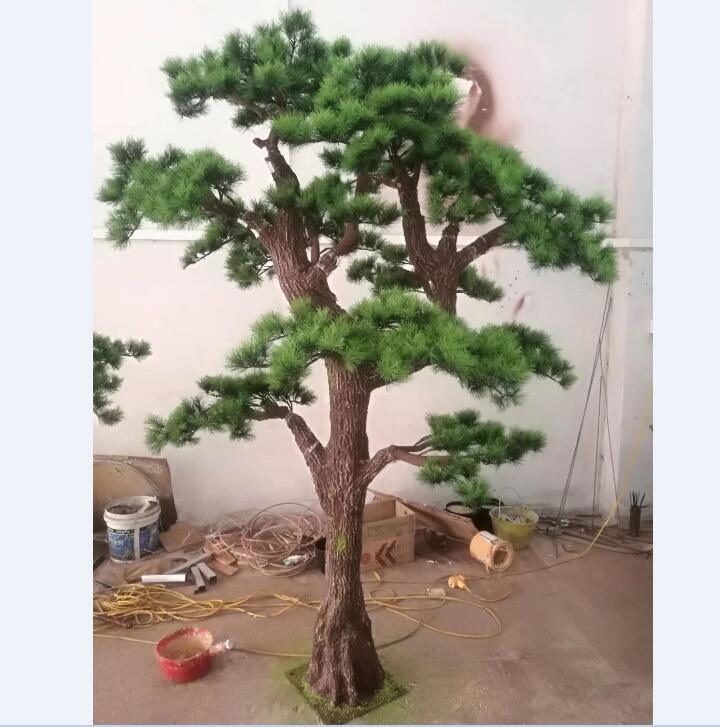 [Hot Item] Home Decoration Pieces Modern Artificial Pine Branches Pine  Needle Tree for Decoration