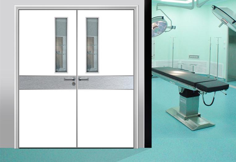 China manual swing double wing hospital room interior - Interior door installation instructions ...