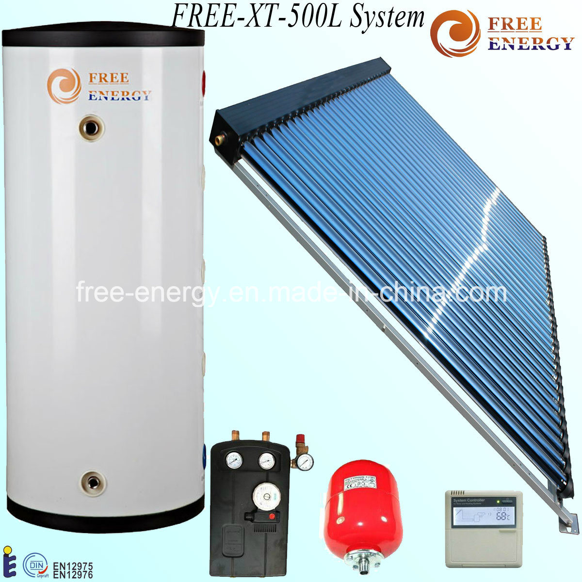 China 500 Liters High Pressure Unvented Solar Water Heater System ...
