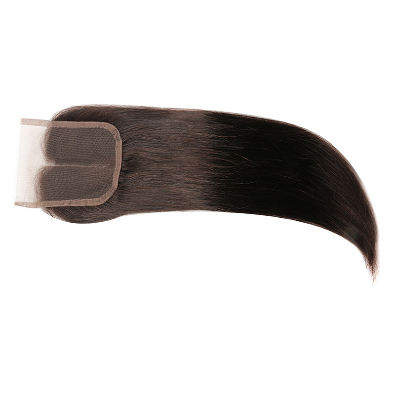 "Lace Closure Bleached Knots Brazilian Virgin Hair Body Wave Closure Brazilian Lace Closure Free/Miiddle/3part 4""X4""Cheap Closure pictures & photos"