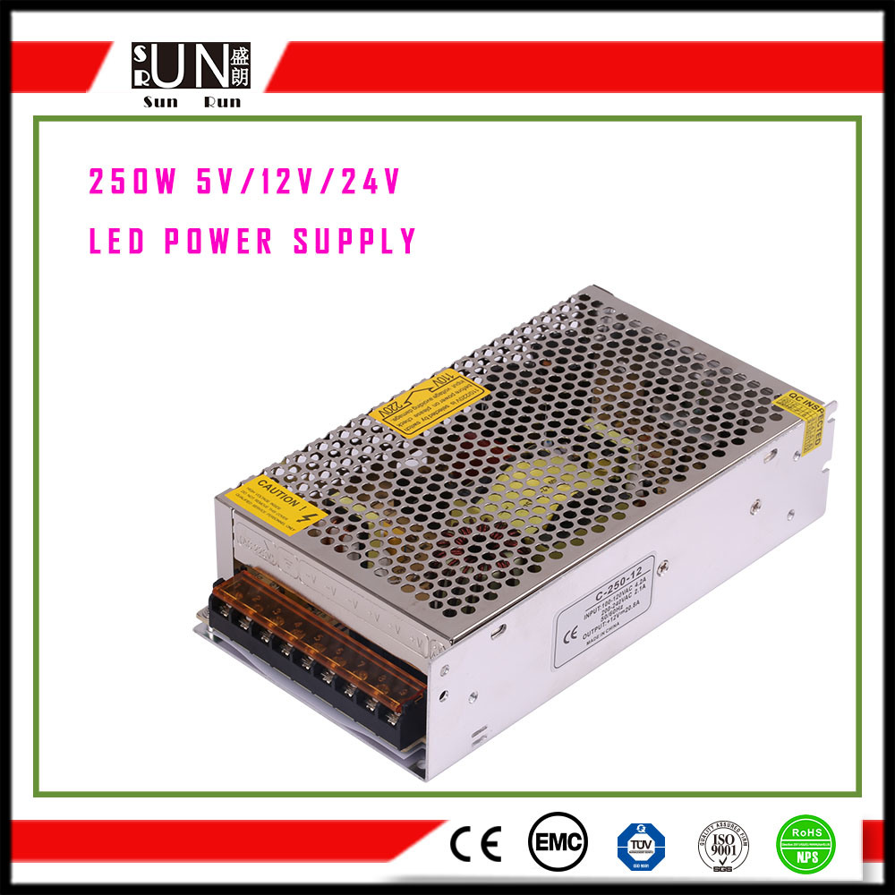 China 12v 250w Switching Power Supply Led Circuit Driver 24v Smps
