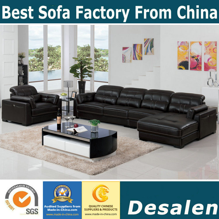 [Hot Item] Best Quality Soft Seat Feeling L Shape Sofa and Sofa Chair (B.  909)