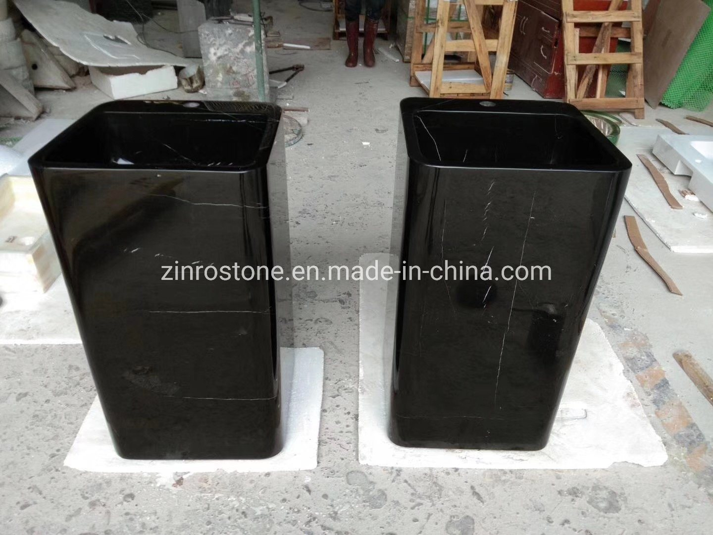 China Polished Black Marble Dark Brown Granite Sinks Basin For Bathroom Tops China Outdoor Furniture Natural Marble Sinks