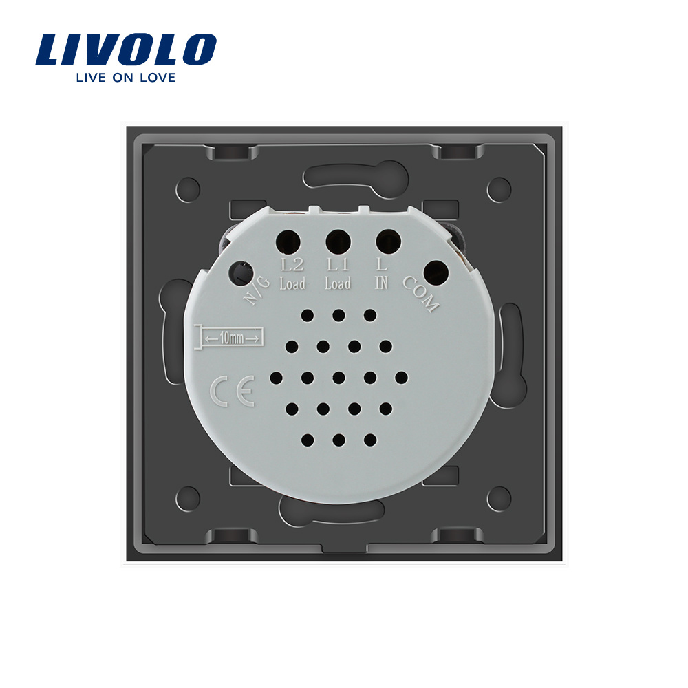 China Livolo EU Standard 2-Gang 2-Way Wall Light Touch Switch Vl ...