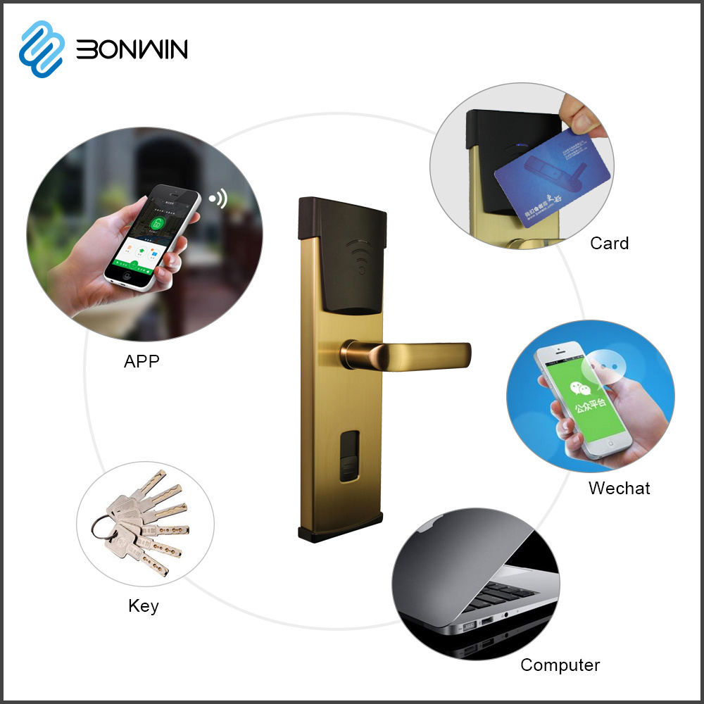 Smart Metal Mobile Phone Control Hotel Door Lock System