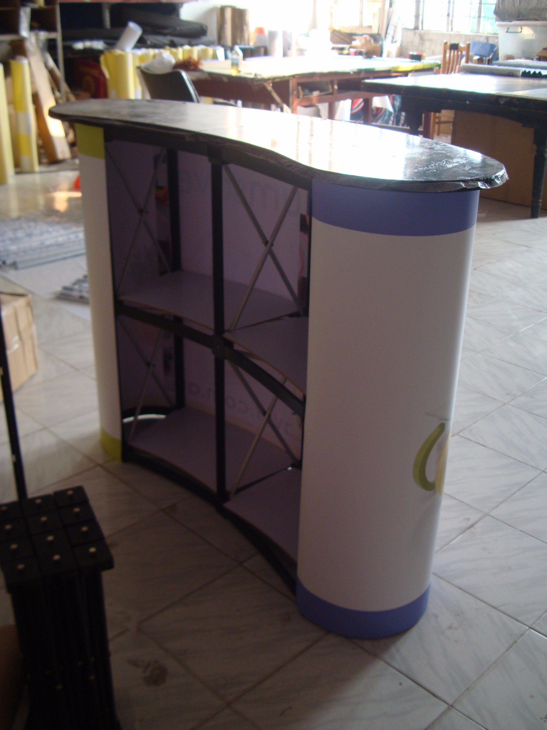Exhibition Stand Reception : China folded pop up stand reception desk for exhibition photos