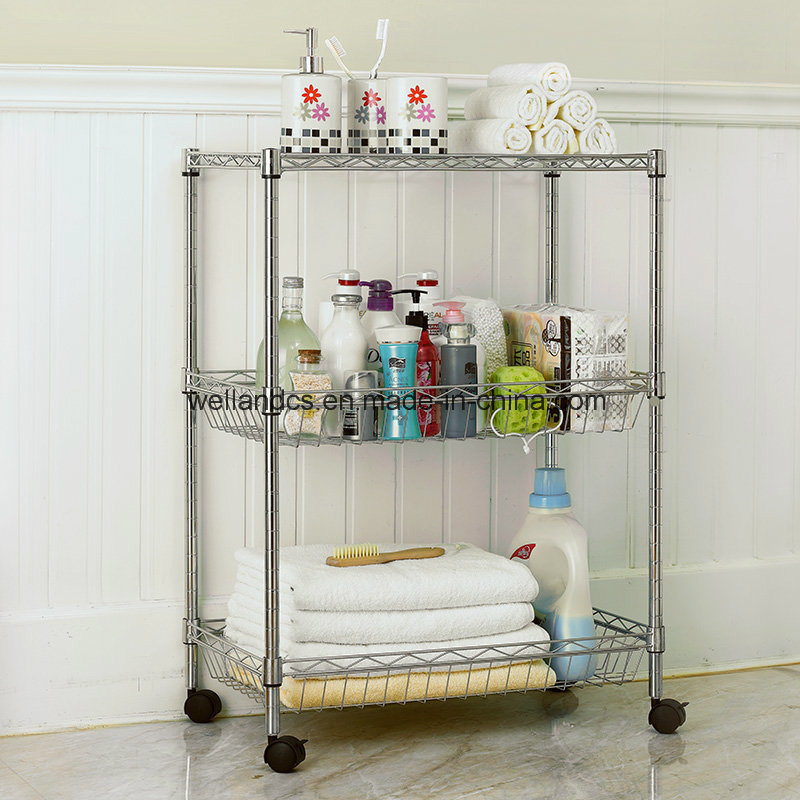 China Triangle Corner Metal Bathroom Rack & Multi-Functional Bath ...