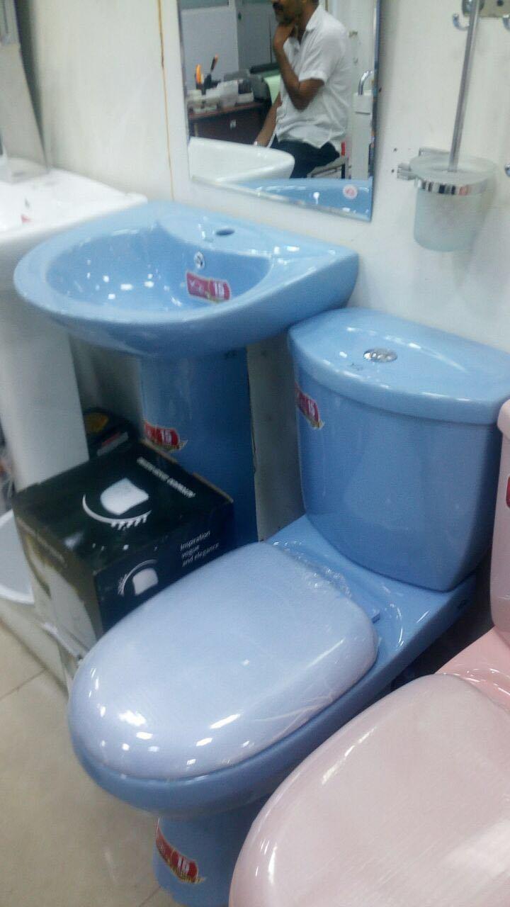 China Bathroom Set Decorative Wash Basin and Toilet for Iran Market ...