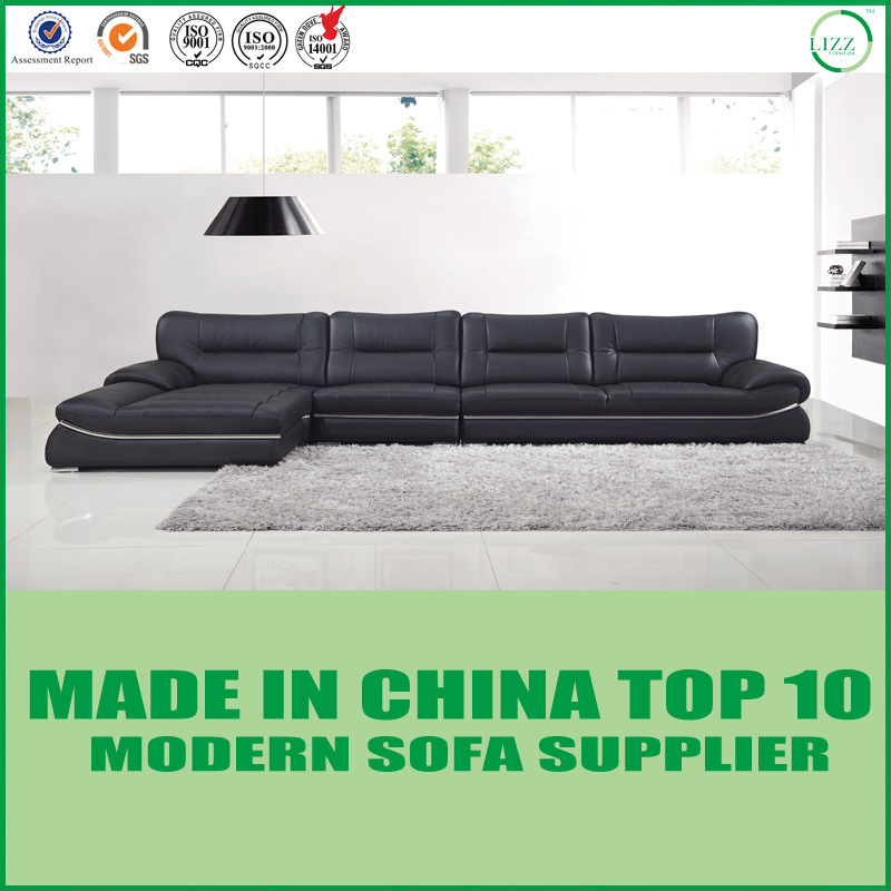 [Hot Item] New Modern Furniture Wooden Leather Sofa Bed