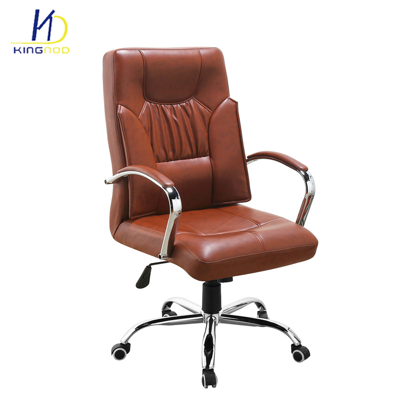 Chair With Wheels >> Hot Item Cadeira High Back Pu Leather Manager Boss Office Chair With Wheels