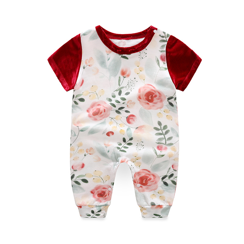 Flower Diamond Custom Name Babygrow Personalised Baby Grow Floral Baby Clothing
