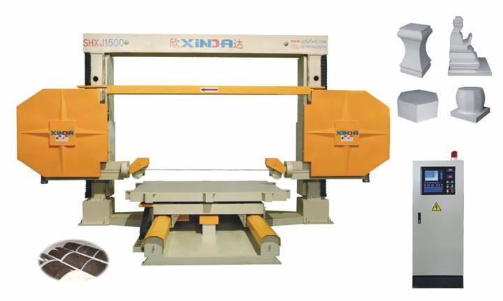 China SHXJ 1500 Five Axis CNC Diamond Wire Saw Machine - China CNC ...