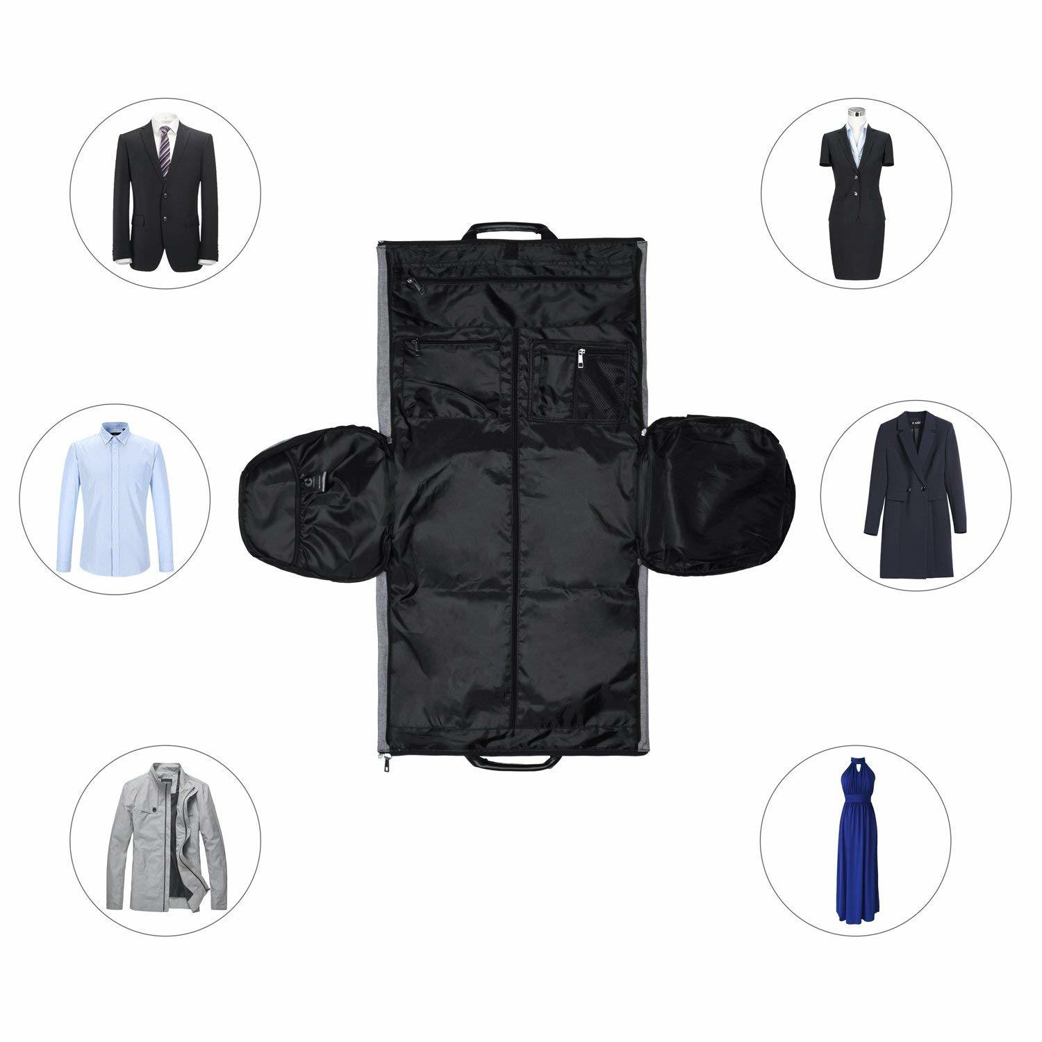 77f1f87ecb Foldable 2 in 1 Travel Garment Duffle Bag for Men and Women with Shoe  Compartment