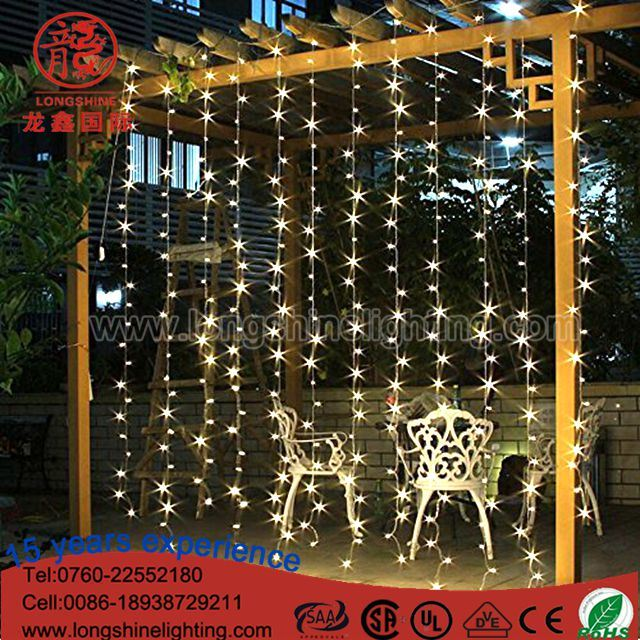 Christmas Light Curtains.Hot Item Led Safety Outdoor Indoor Fairy Decoration Christmas Curtain String Light