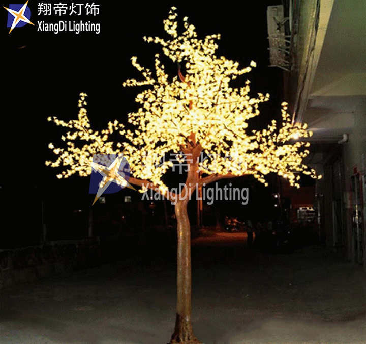 Hot Item 4m Artificial Led Tree In Outdoor Cherry Crystal Light