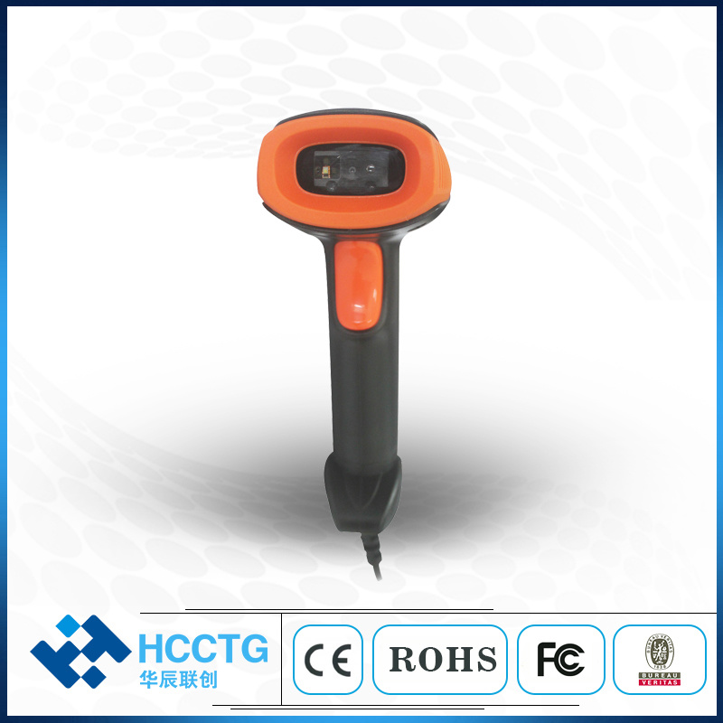 RS232 USB Laser 2D Barcode Scanner Wired for Supermarket (HS-6602) pictures & photos