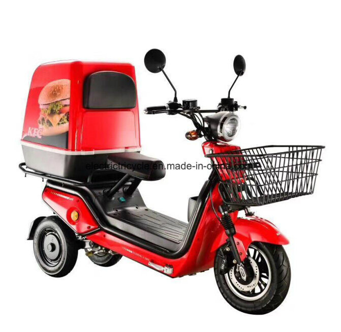 500W *2 Electric New Style Pizza Delivery Scooter, Food Delivery Electric Trike pictures & photos
