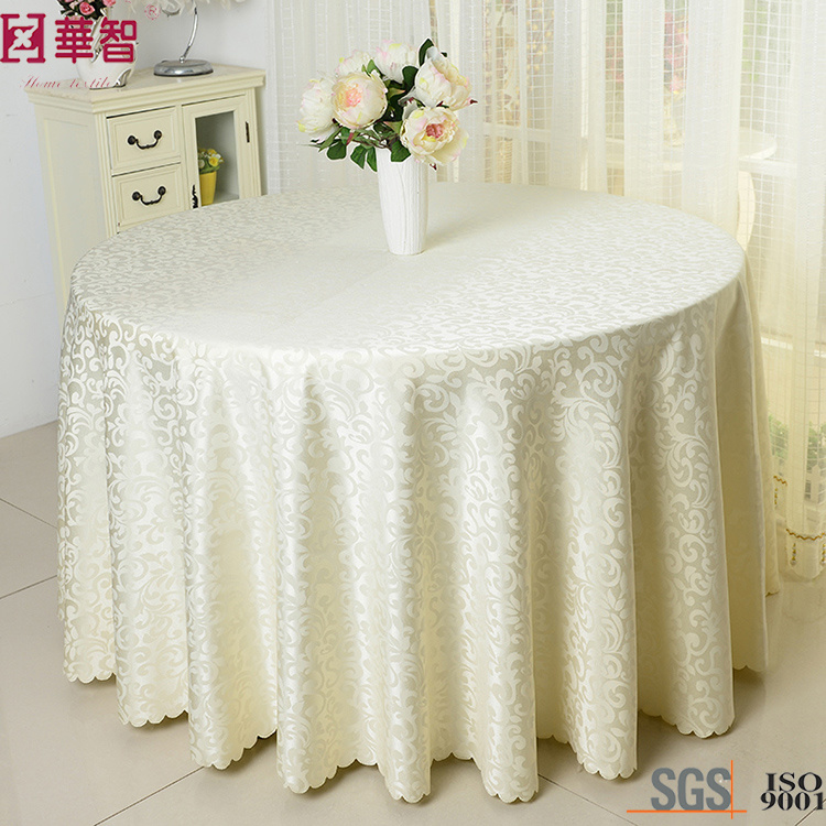 Large Round Table Cloth.Hot Item Polyester Wedding Large Round Table Cloth