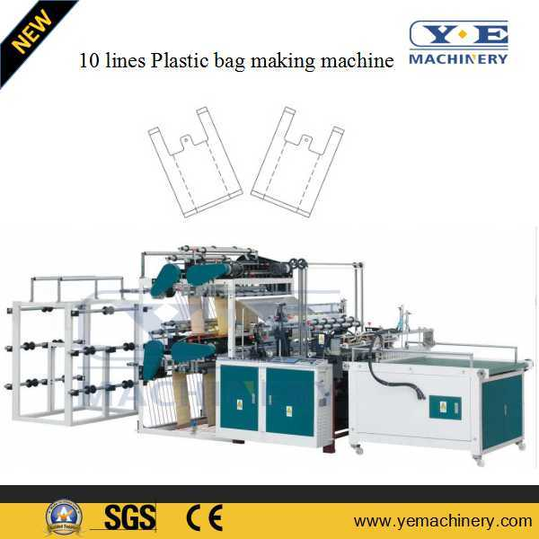 China Single Line Plastic T Shirt Shopping Bag Making Machine pictures & photos