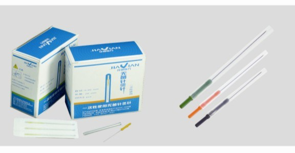 Acupucture Needle with Color Plastic Handle Needle pictures & photos