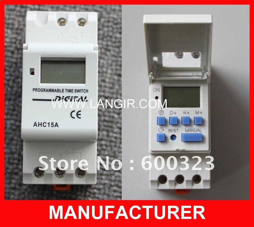 China Ahc15a Weekly Programmable Electronic Timer Switch Digital Circuit