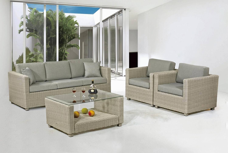 China Outdoor/Garden/Rattan Furniture Poly Rattan Sofa Set ...