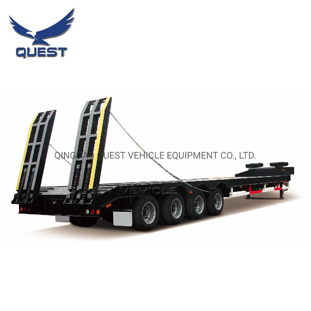 China 50 60ton Gooseneck Lowboy Truck Tractor Low Flatbed Semi Trailers China Low Flatbed Semi Trailer Low Flatbed Tractor Trailer