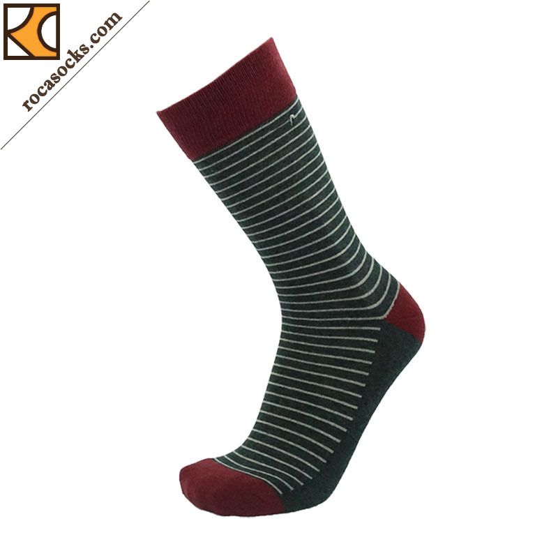 Classical Men′s Port Striped Crew Socks (163013SK)