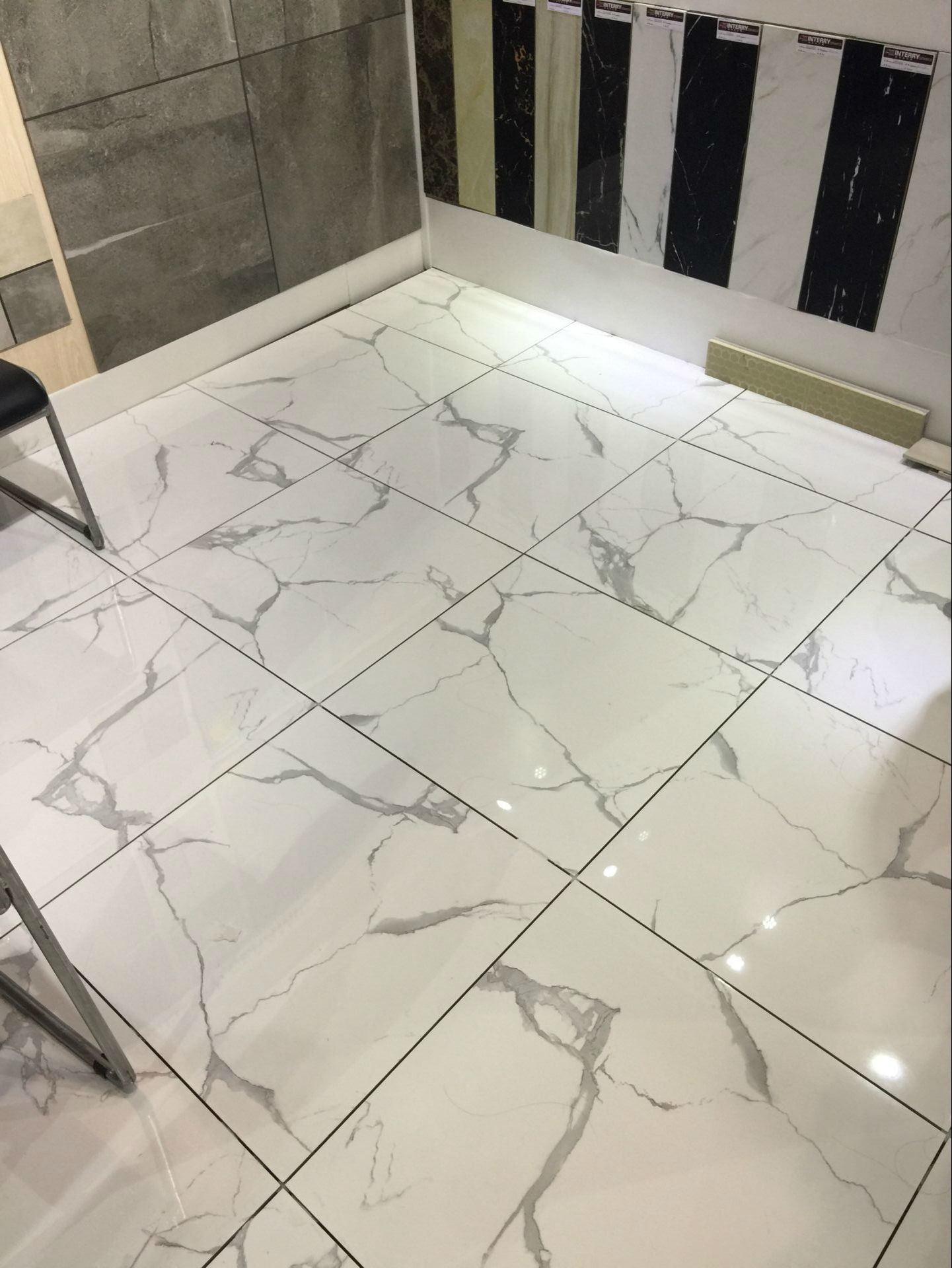 Hot Item New Design Carrara White Marble Tiles Polished Glazed Tile Ivl010a