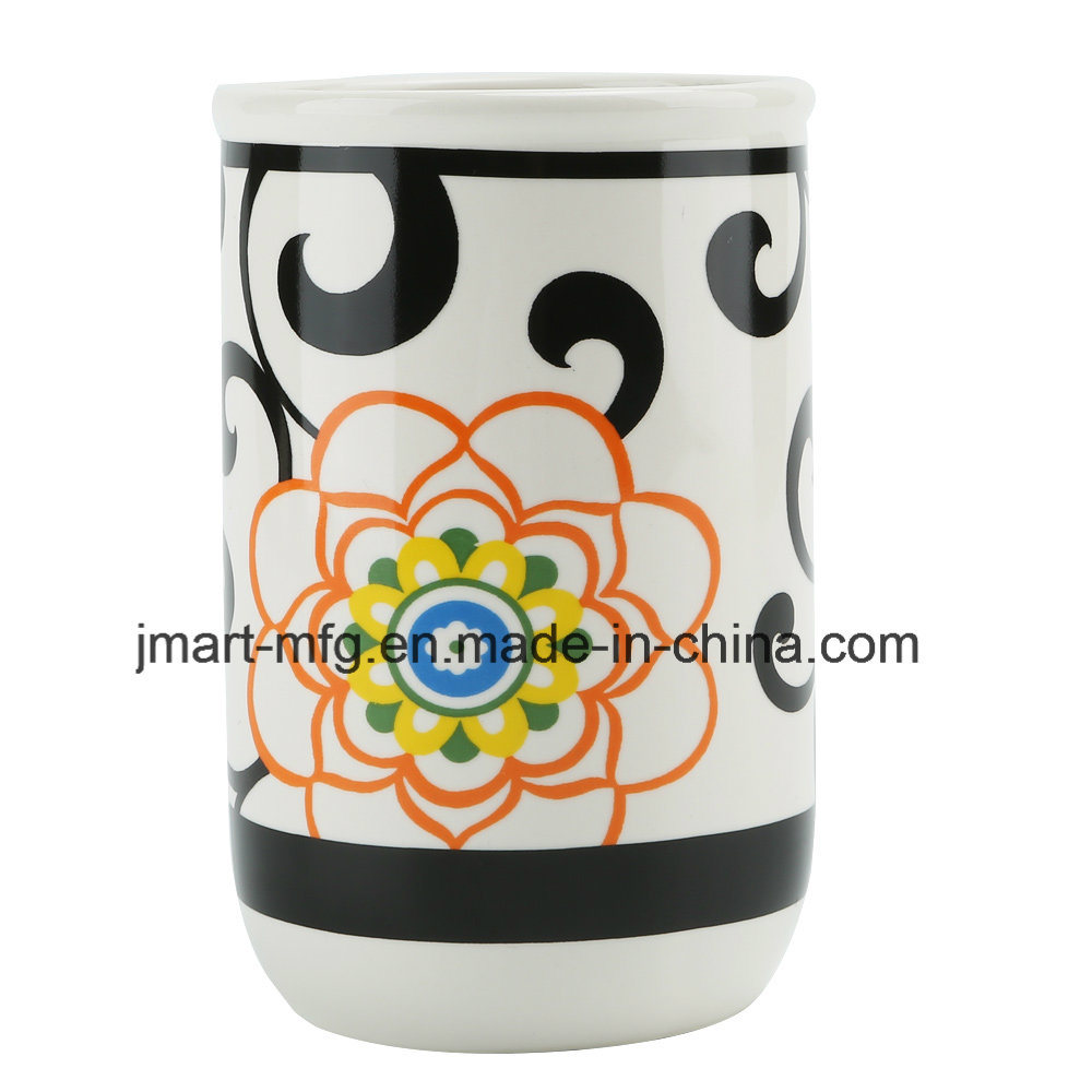 Flower Decal Ceramic Bathroom Set for Modern Home Houseware Sets pictures & photos