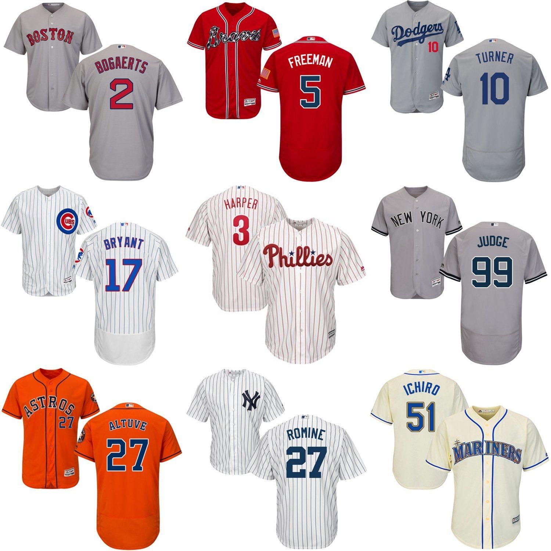 01294724f Wholesale Harper Aaron Judge Turner Bryant Rizzo Gregorius Baseball Jerseys