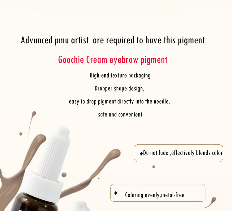 Goochie Tattoo Paste Microblading Pigment for Permanent Make up pictures & photos