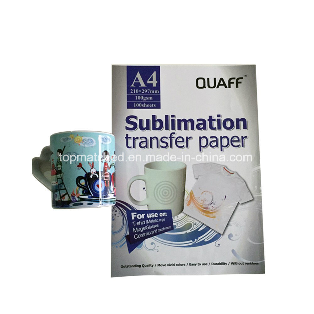 China A4 100GSM Iron-on Transfer Paper Sublimation Ink Heat