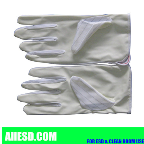 10mm Strip PU Coated Anti Static Gloves pictures & photos