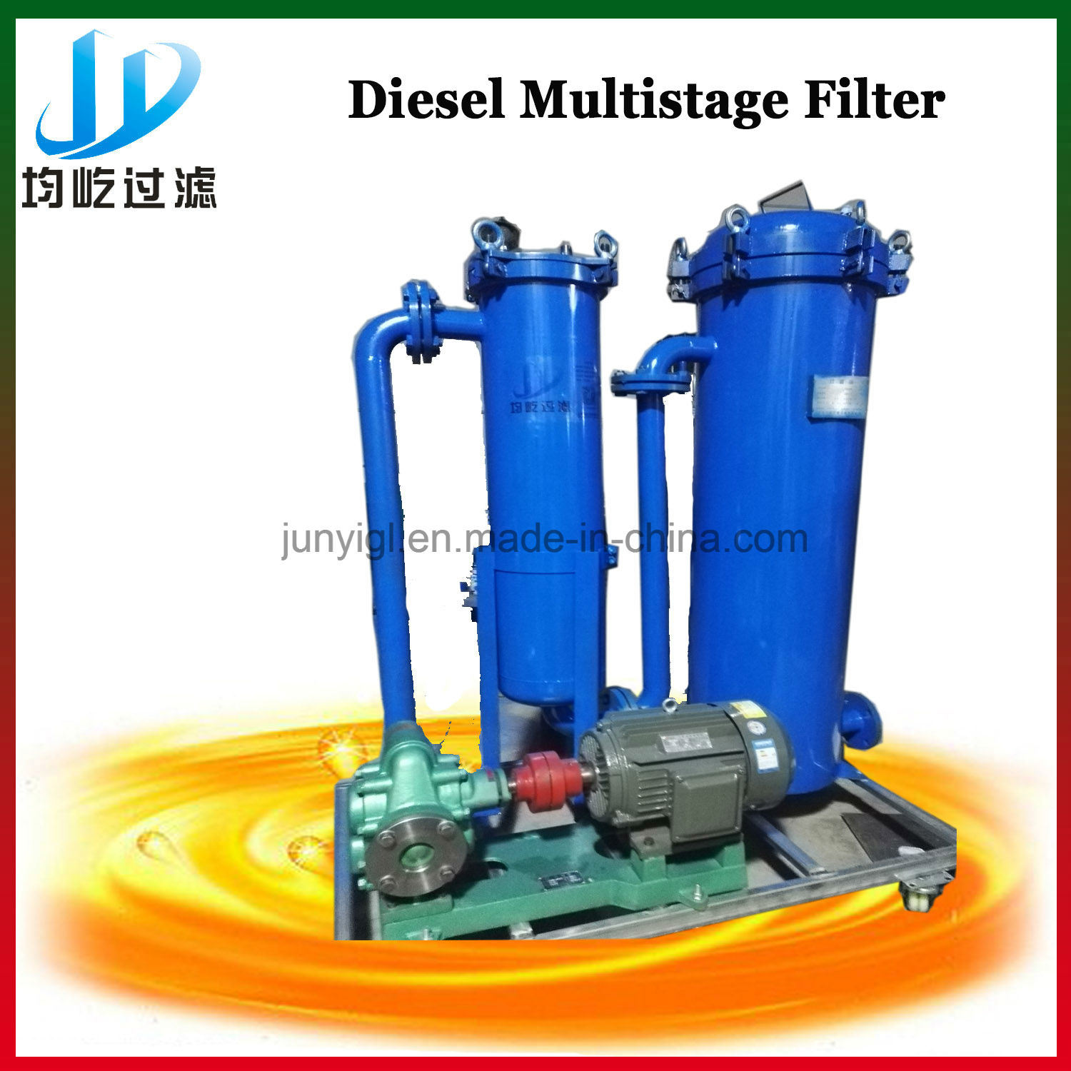 China Multistage Diesel Oil Filter System Specially For Generating Electricity Separator Decoloring