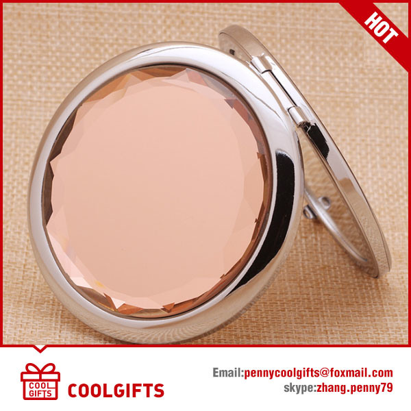 Wholesale Round Metal Pocket Folding Mirror for Ladies Gift
