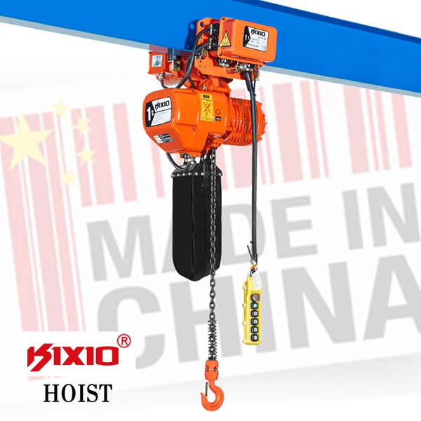 1 Ton Lifting Equipment, Electric Chain Hoist with Trolley
