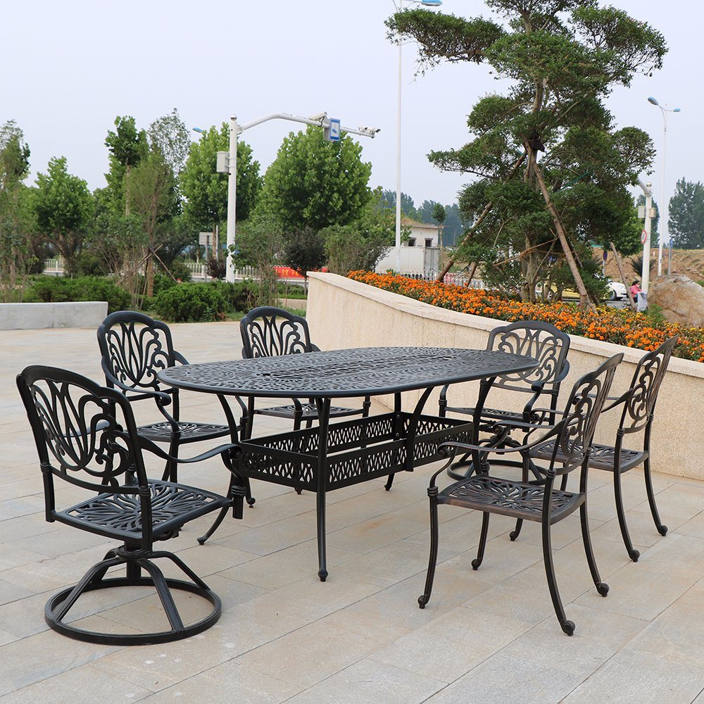 China Cast Aluminium Cafe Bistro Set Patio Garden Outdoor
