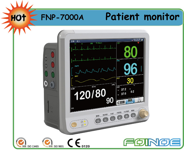 Pm7000A CE Approved 12.1 Inch Multi Parameter Handheld Patient Monitor