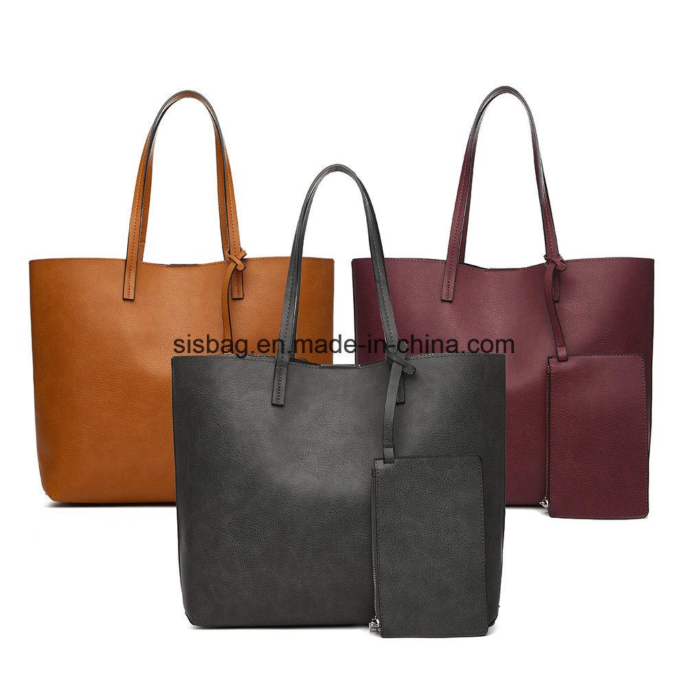 79e6696ddb07 China New Trendy PU Reversible Tote Bag Large Women Shoulder Bags - China Shoulder  Bag