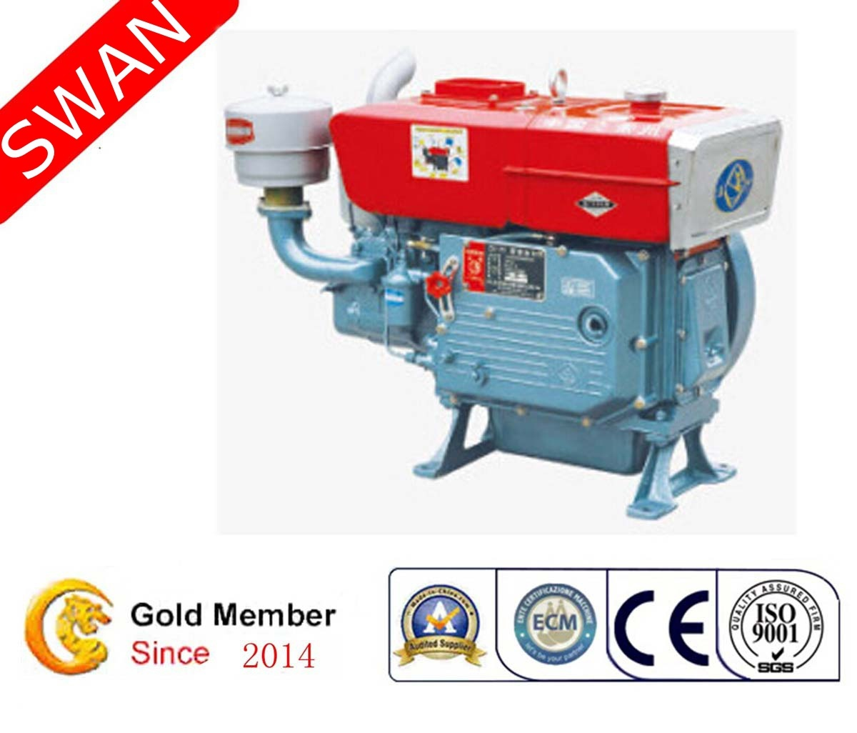 China 13HP Hot Model Direct Injection Single Cylinder Water Cooled ...