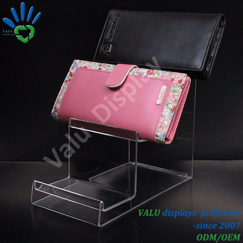 China Acrylic Tiered Ladies Wallet Display Rack Shelves Hang Bag